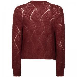 121025 6 [Cardigan Knitwear] 004060 Wine Red
