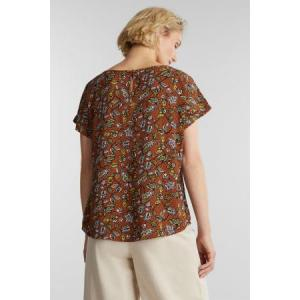 123490 F02183 [Blouses woven] E223 RUST BROWN